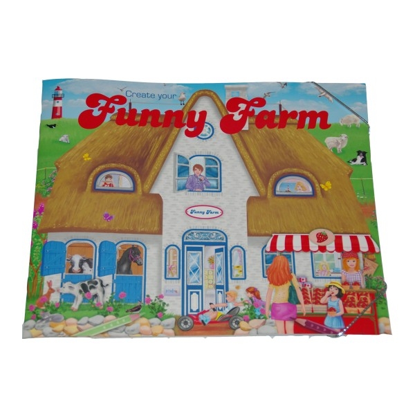 Stickerbuch Bauernhof Create your funny Farm
