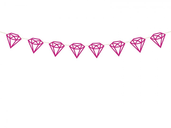Girlande Diamanten, pink