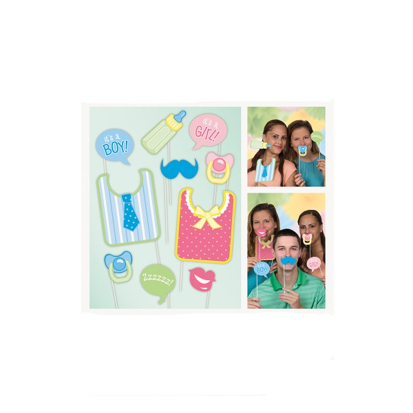 Photo Booth Set Babyshower, 10-teilig
