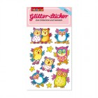 Glitter-Sticker Eulen