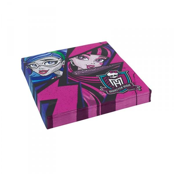 Servietten Monster HIgh 33cm, 20 Stück