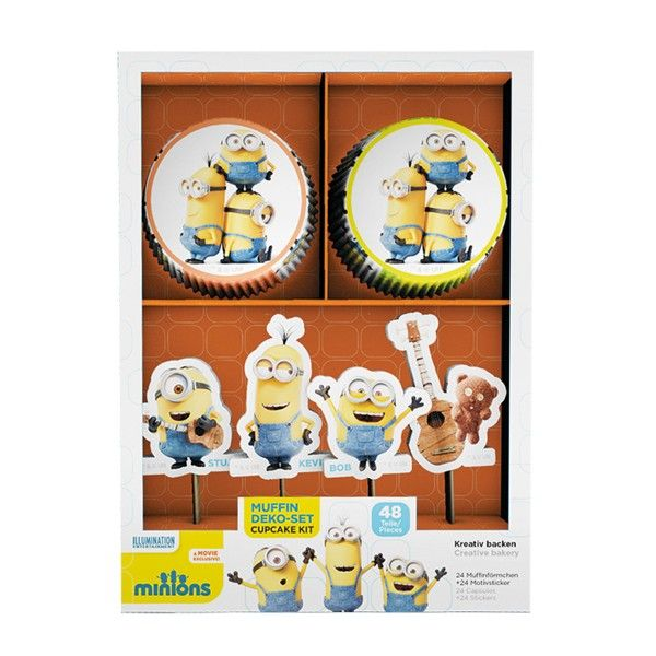 Muffinset Minions 48-teilig