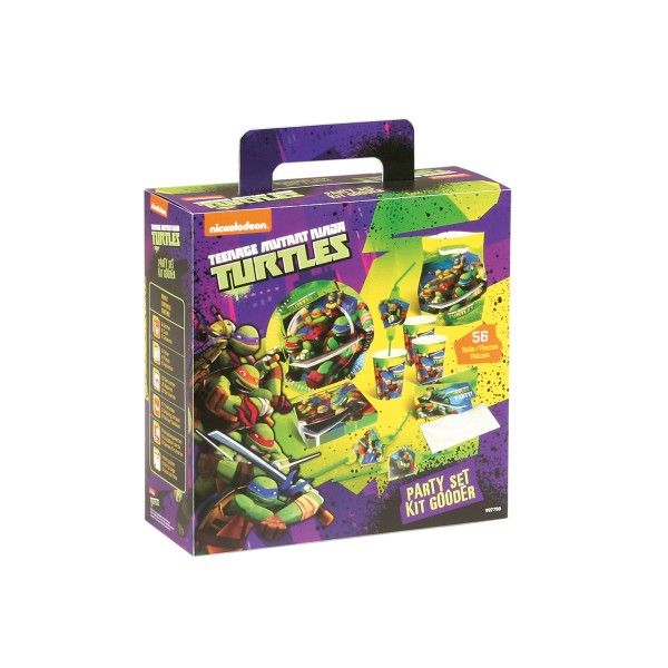 Party-Set Ninja Turtles, 56-teilig