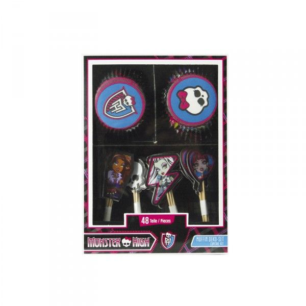 Muffin-Set Monster High, 48-teilig