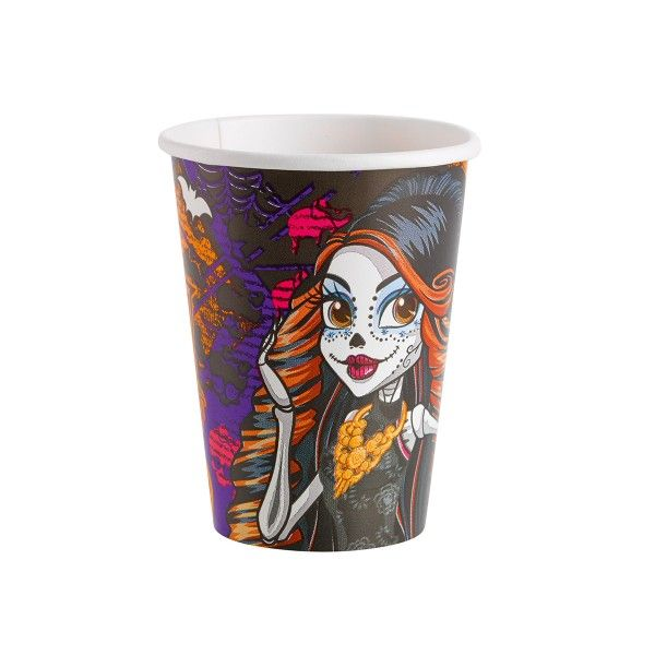 Pappbecher Monster High, 250ml, 8 Stück
