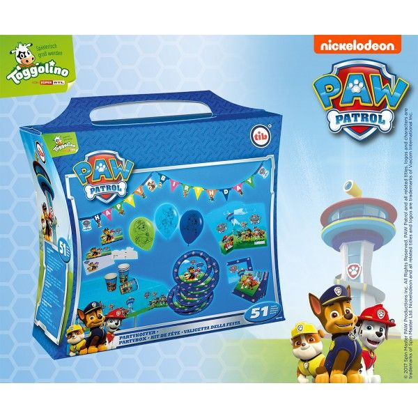 Partykoffer Paw Patrol, 51 Teile