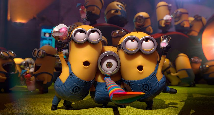 Gelber Spaß auf dem Minion Geburtstag! • Foto: DESPICABLE ME 2, 2013. ©Universal Pictures/courtesy Everett Collection - Ich einfach unverbesserlich 2/action press