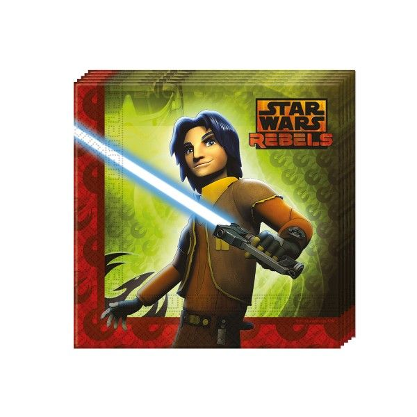 Servietten Star Wars Rebels, 33cm, 20 Stück