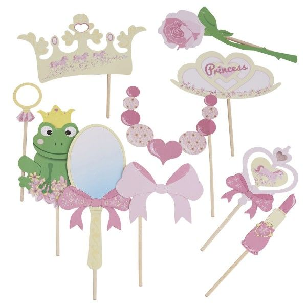 Photo Booth Set Prinzessin, 10-teilig