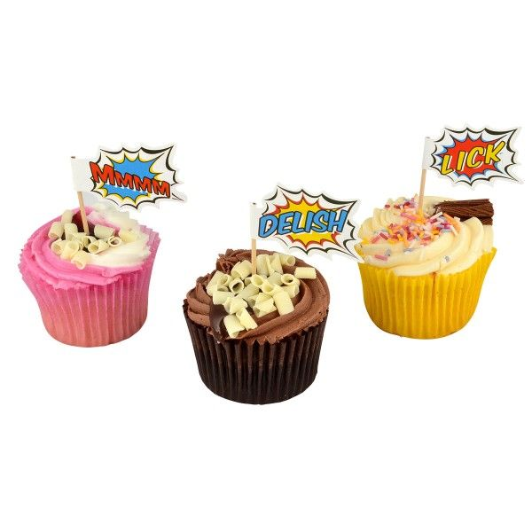 Muffinpicker Pop Art Superhelden, 7,5cm, 20 St