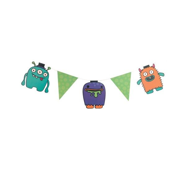 Wimpelkette Monster, 3,5m
