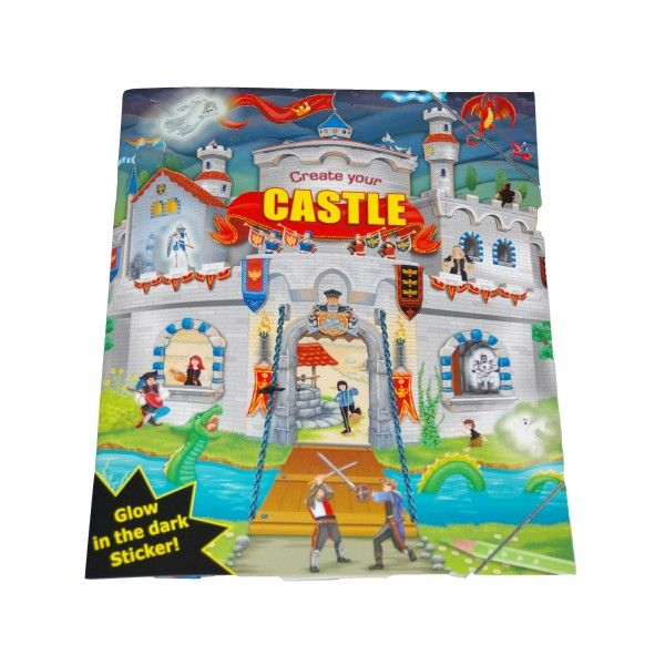 Stickerbuch Ritter Create your Castle
