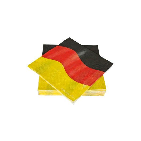 Servietten Deutschland, 33cm, 20 Stück