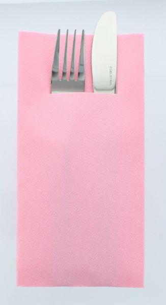 Besteckservietten Rosa , 40cm, 12 Stück