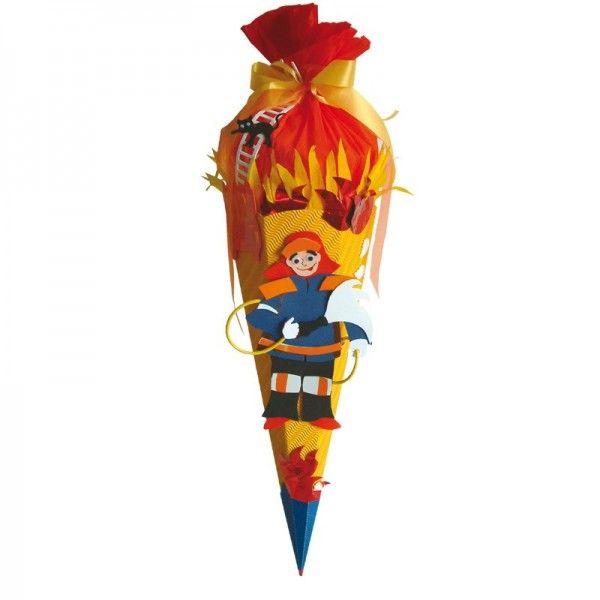 Schultüten-Bastelset Feuerwehr, 68 cm