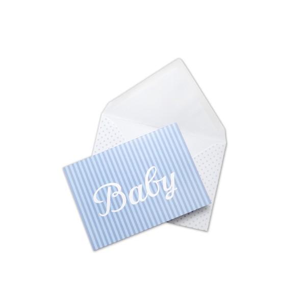 Klappkarte Baby blau