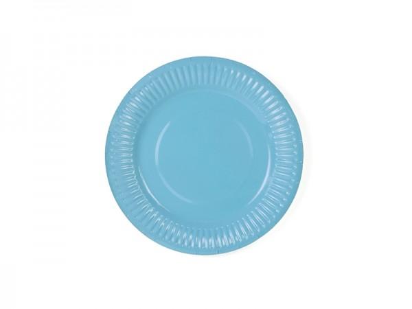 Pappteller, Himmelblau, 6 Stück, Ø 18 cm