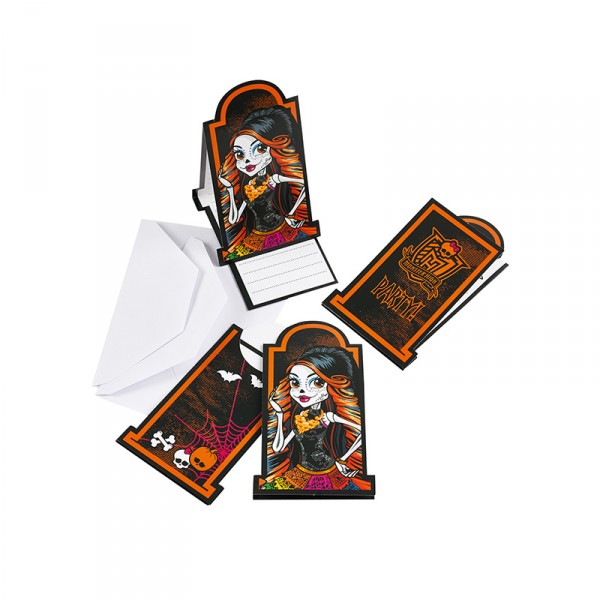 Einladungskarten Monster High, 6 Stück