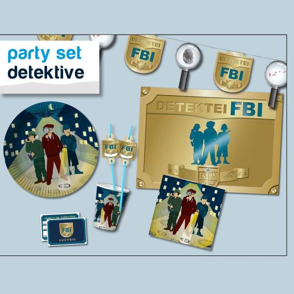 Party-Set Detektiv, 42-teilig