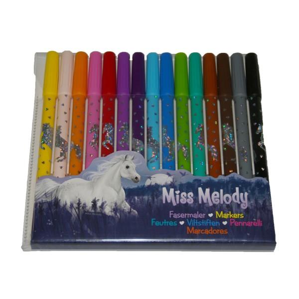 Fasermaler Miss Melody Packung mit 15 Stiften X X