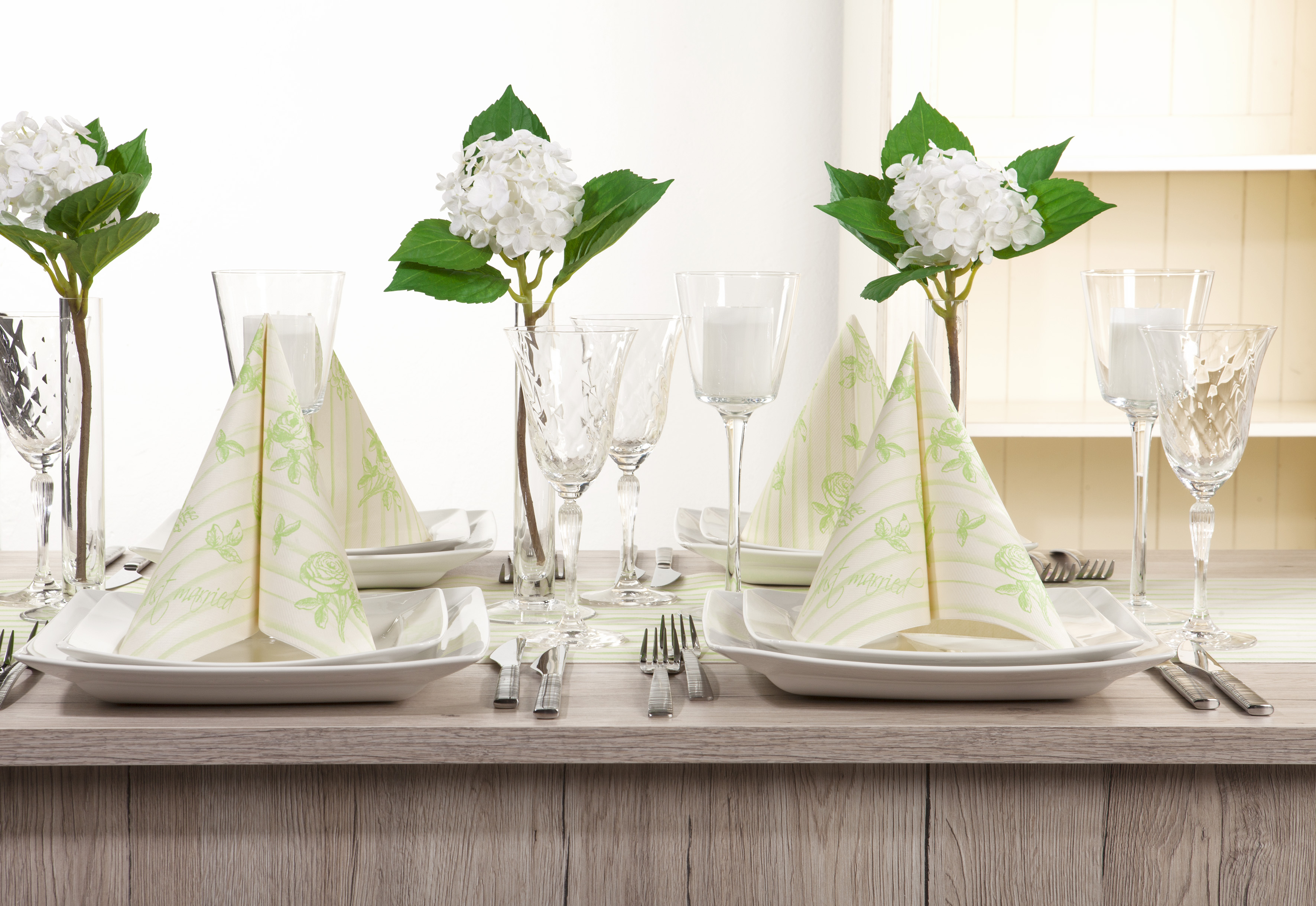 12 Serviette Champagner aus Linclass® Airlaid 40 x 40 cm Deko Hochzeit Feier