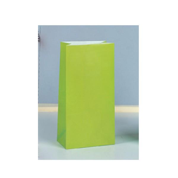 Partytüten aus Papier, lime grün, 12 Stück