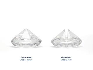 Platzkartenhalter Diamanten, transparent, 10 Stück