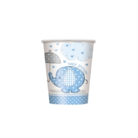 Pappbecher Baby, blau, 266ml, 8 St
