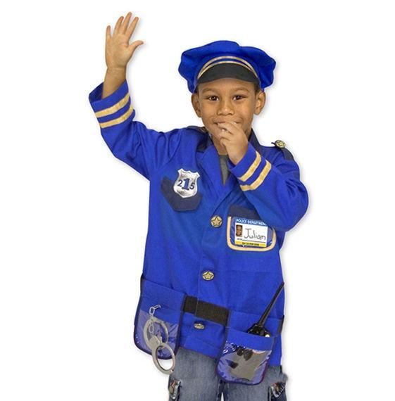 Kostüm Polizei, Alter 3-6 Jahre, 7-teilig