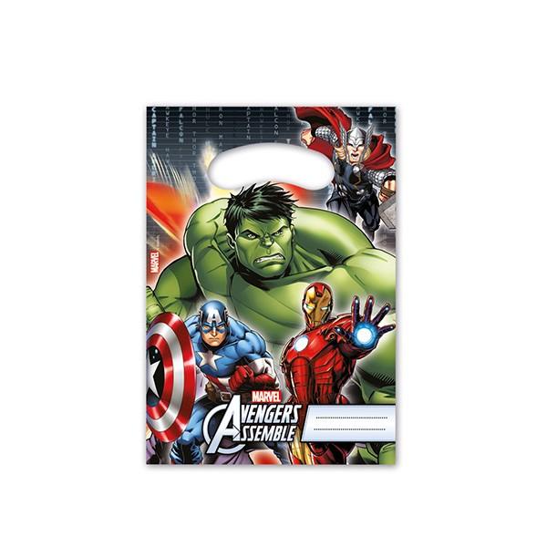 T1142316-Partytueten-Avengers-Power-6-Stueck