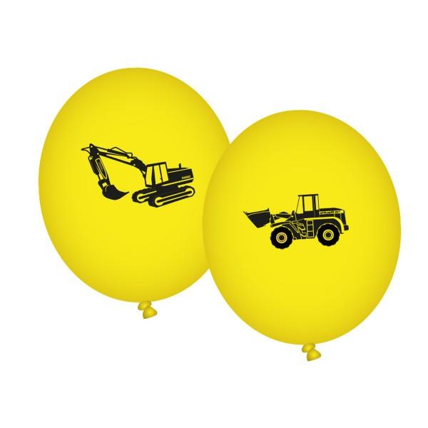 Ballons Baustelle , bedruckt, 8 St