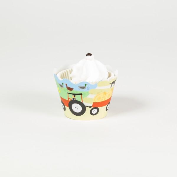 Deko Banderolen fuer Muffins und Cupcakes Bauernhof