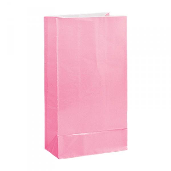 Partytüten aus Papier, rosa, 12 Stück