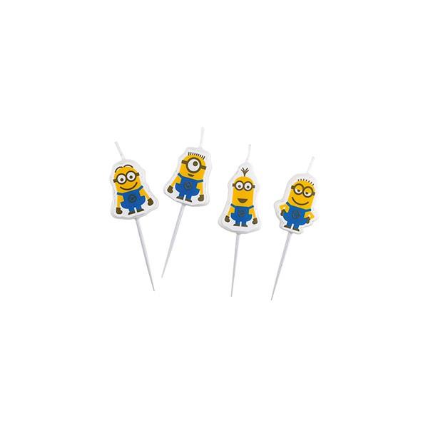 Minikerzen Minions, 4 Stück