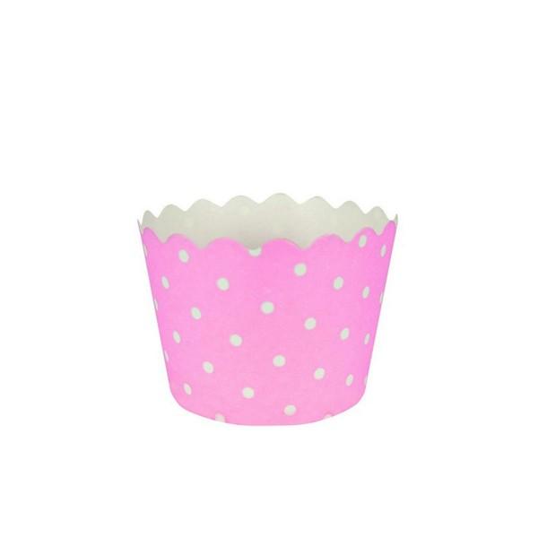 T1142607-Muffinfoermchen-gepunktet-rosa-12-Stueck