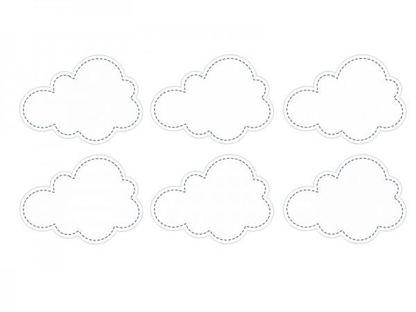 Etiketten-Aufkleber Über den Wolken, 6 Stück