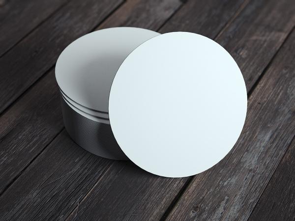 Bierdeckel Blanko, Untersetzer zum Basteln in Weiß, Ø 10,7 cm, 100 Stück