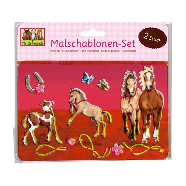 Schablonen-Malset Pferdefreunde, 2 Stück