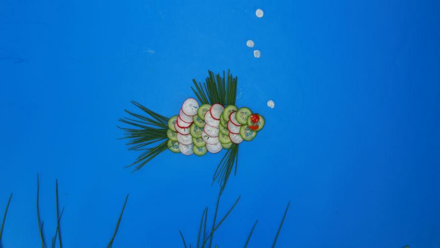 Ein knackiger Fisch für kleine Unterwasserfans. • Foto: U. Miers, Foodproduktion: Dagmar von Cramm