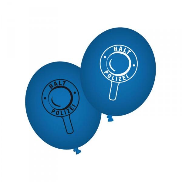 Luftballons Polizei, 8 Stück