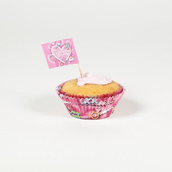 Muffinförmchen und Muffinpicker Prinzessin, 48-teilig
