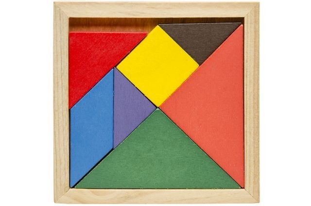 Tangram Holzpuzzle