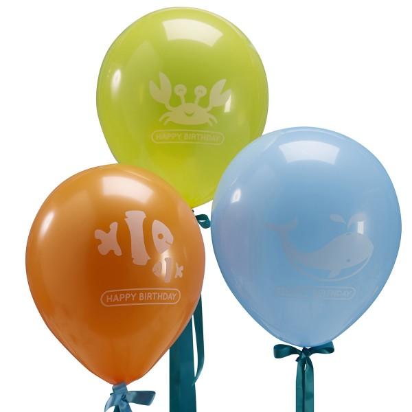 Luftballons Unterwasserwelt, 9 Stück