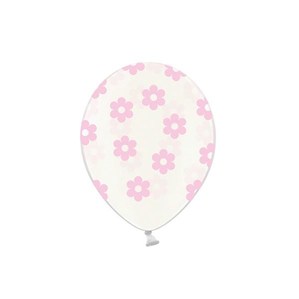 T1142522-Luftballons-Blumen-rosa-6-Stueck