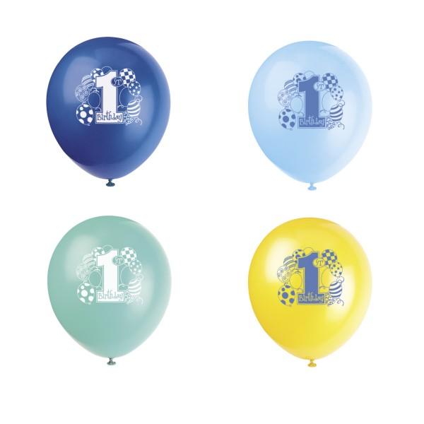 Ballons 1. Geburtstag, 8 St
