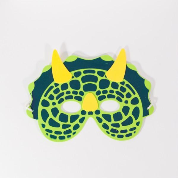 Moosgummimasken Dino/ Drachen, 6 Stück