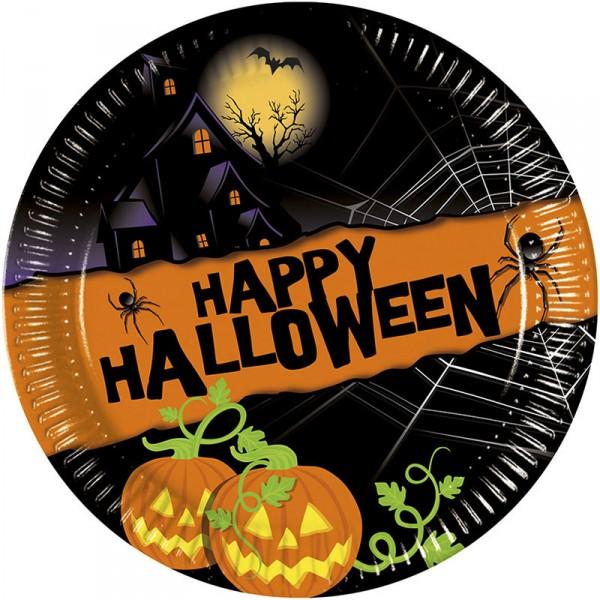 Pappteller Halloween, ø 23 cm, 8 Stück