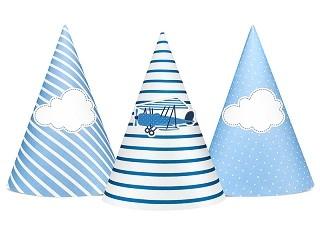 Partyhüte Über den Wolken, 6 Stück
