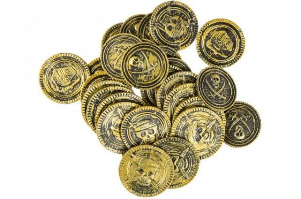Piratenschatz Münzen, 30 Stück