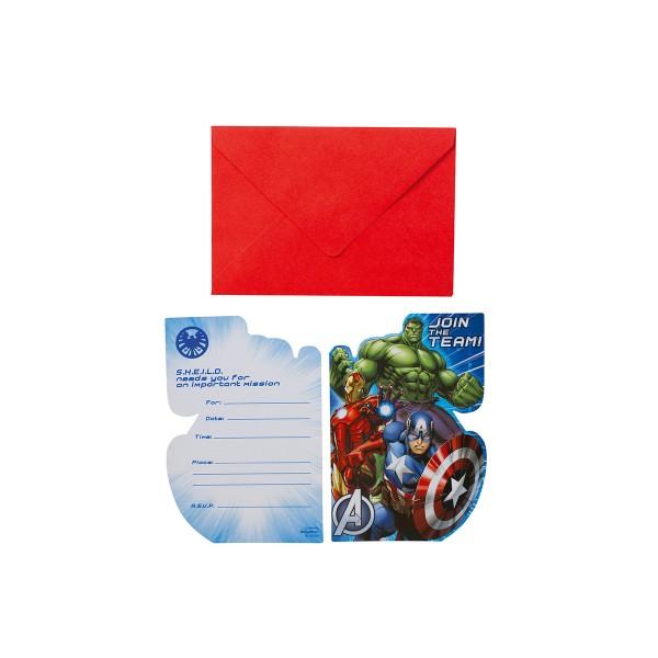 T1142317-Einladungskarten-Avengers-Power-6-Stueck